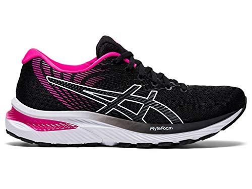 ASICS Women's Gel-Cumulus 22 Running Shoes, 8.5M, Black/Pink GLO