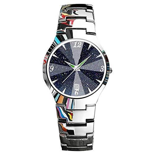 Reloj De Moda Reloj De Estudiante para Hombre Reloj Delgado Impermeable De Cuarzo para Hombre