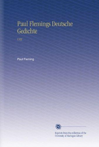 Paul Flemings Deutsche Gedichte: V.83