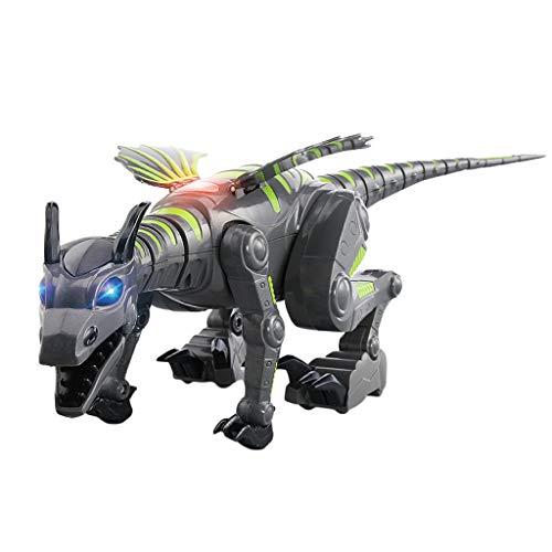 Highpot Robot Dinosaur Interactive Smart Walking Dinosaur Toy with Lights & Sounds (Green)