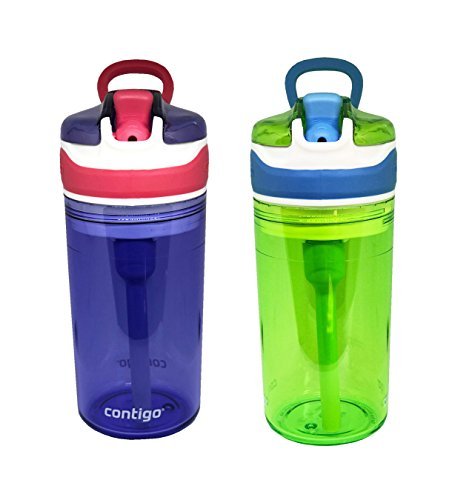 Contigo Kids 2 and 1 Snack Hero Kids Tumbler and Snack Cup- 13 oz - 2 pack - (Purple-Green)