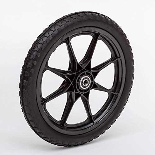 Lapp Wheels Flat Free Plastic Spoke Wheel,Garden cart/Utility Replacement,11-24' Diameter,5/8-3/4 Axle Bearing Options