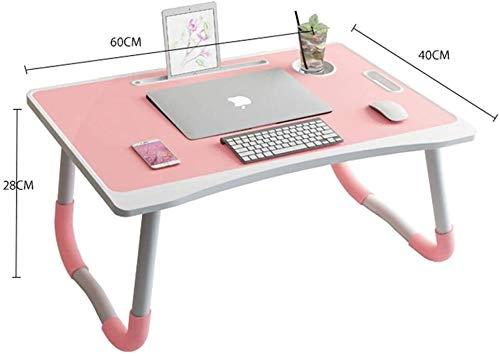 Vouwen Draagbare Laptop Bureau Laptop Tafel Met Tablet En Kop Gegroefde Bed Tafels Kinderen Leren Computer Bureau Tafel Boekenkast Familie Desk Laptop Stand Folding