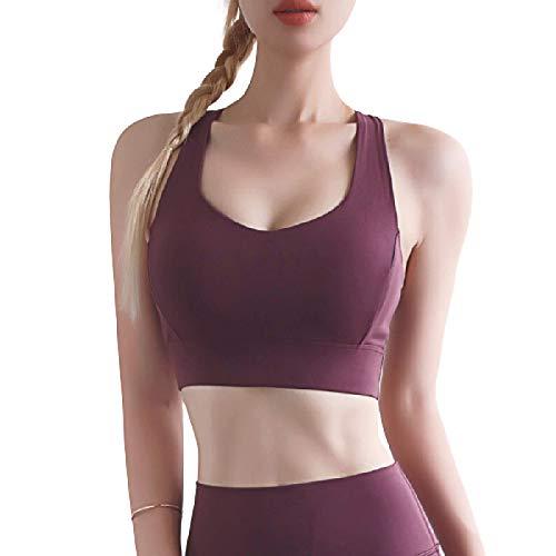 Cwang Sujetador con Aros sin Relleno para Mujer,Rojo,XL