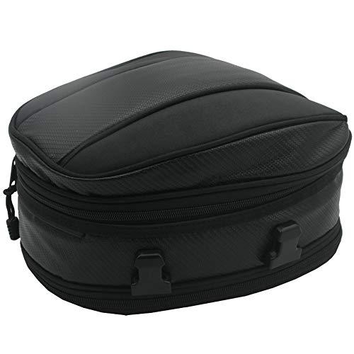 CARACHOME Universelle Motorrad Tasche, Multifunktionale Motorrad-Hecktasche Hecktasche, Wasserdicht Gepäckträgertasche Tank Schwanz Tasche Bag Mit Regenschutz