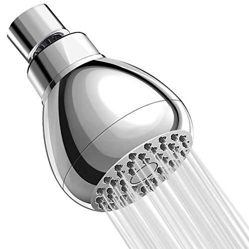 ASEOK Duschkopf Hochdruck 7,6 cm wassersparende Kopfbrause, chrom 2,5 GPM Duschkopf, kraftvoller hoher Durchfluss Duschkopf für Bad Spa Dusche, Luftblasen Druck Duschkopf
