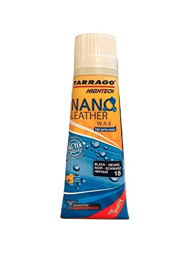 Tarrago | Nano Leder 75ml Wachs Tube | Feuchtigkeitsspendende und pflegende Hautcreme (Schwarz 18)