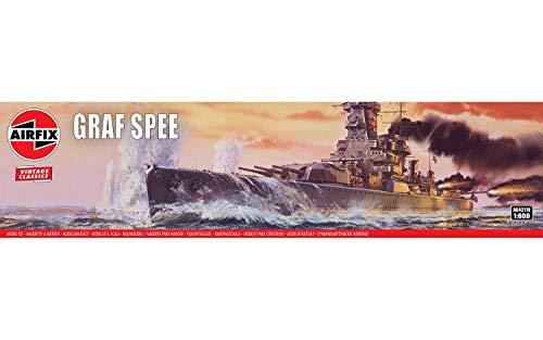 Airfix A04211V 1/600 DKM Admiral GRAF Spee Modellbausatz, Sortiert, 1: 600 Scale