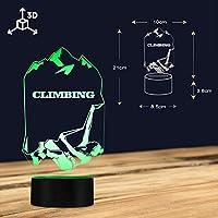 Buzdao クライミングマン3DオプティカルイリュージョンナイトライトグローイングLedランプエクストリームスポーツモダンライトロックシンビングラバーギフトビジュアルランプ