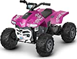 Fisher-Price Power Wheels Racing ATV, pink battery-powered ride-on...