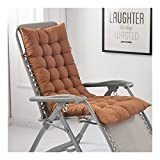 DHF Cojines para sillas Cojín de Silla Larga para sillón de Relax152 * 48cm, Tumbona de jardín o terraza (sin Silla) Solo cojín de Silla (Color : Brown, Size : 122 * 48cm)