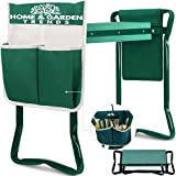 H> Garden Kneeler and Seat, Foldable Garden Stool Heavy Duty Gardening Bench for Kneeling and Sitting to Prevent Knee & Back Pain, Great Gift For Gardeners, Grandparents, Mom & Dad
