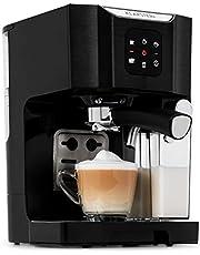 Klarstein BellaVita - Macchina da Caffè, per Espresso, Cappuccino e Latte Macchiato, Montalatte da 0,4 L, 20 Bar, Serbatoio da 1,4 L
