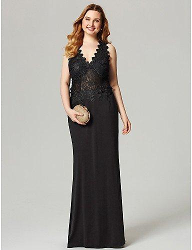 HY&OB Mantel/Spalte V-Ausschnitt, Länge Spitze Jersey Formale Abendkleid Mit Zierblenden, Paradies, Rosa, Us2/Uk6/Eu32