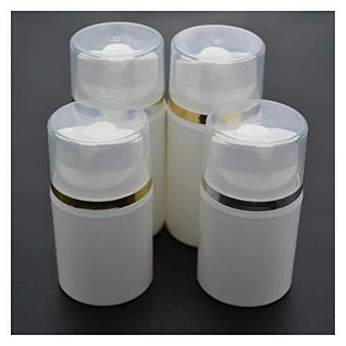 Cosméticos vacíos 5pcs / Lot 50ml PP portátil PP Crema de plástico Blanco con la Botella de línea UV Vacío Transparente Botra de la Bomba Airless Bottle Contenedor de vacío Prueba de Fugas
