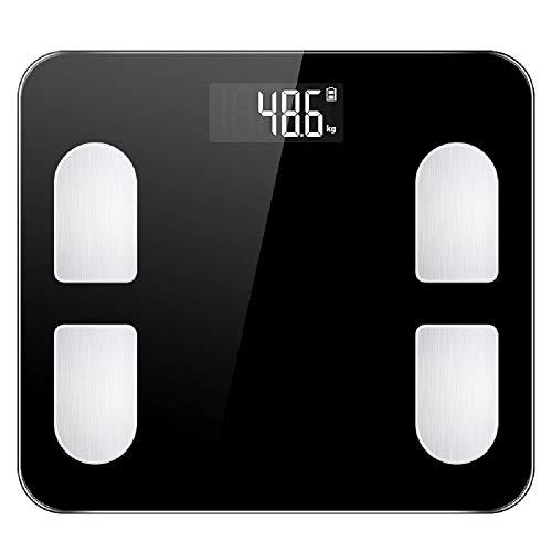 Cluster star Bluetooth Graisse corporelle Balance numérique Intelligent Salle de Bains Balance de Composition corporelle Moniteur Analyseur avec Smartphone App-Noir