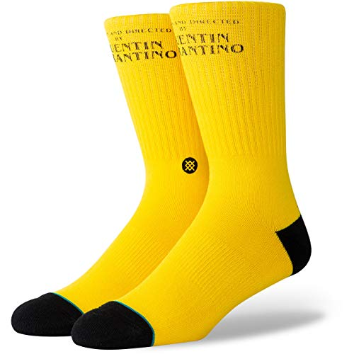 Stance Pulp Fiction Socken Calcetines para Hombre, Amarillo