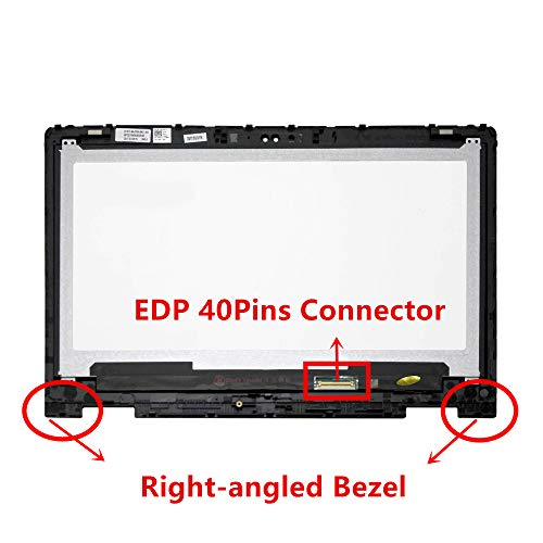 LCD Display Assembly for Dell Inspiron 13-7373 13.3 Touch Screen Replacement Digitizer Glass Non-Bezel DP//N 533R7