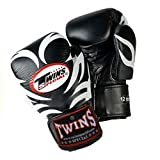 Twins Gloves for Training and Sparring Boxing, Muay Thai, Kickboxing, MMA (Tattoo Black,10 oz)