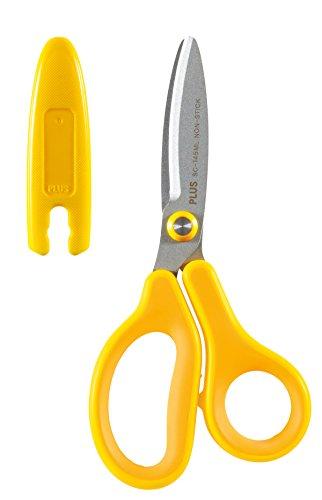 Plus Japan Fitcut Curve Kids - Tijeras para zurdos, color amarillo