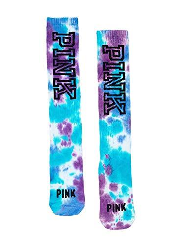 Victoria's Secret PINK Knee-High Socks, Tie Dye, Blue/Purple