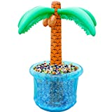 "PARENTSWELL 60""Inflatable Palm Tree Cooler, Summer Swimming Party Decoration, Party Supplies for Pool Party, Tropically Themed Party Luau Party and Hawaiian Party"