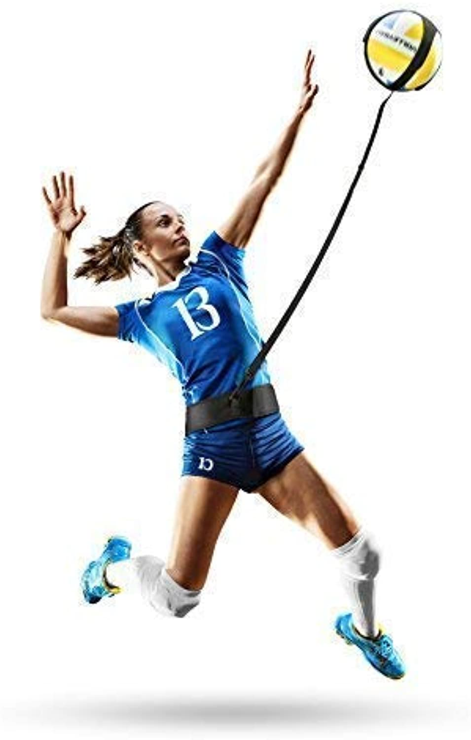Infiiniity Volleyball Training Equipment Aid with Adjustable Waist Belt & Cord Length. Perfect Volleyball Trainer for Your Skills Like Serving, Spiking, Arm Swing. Fits All Volleyball Sizes