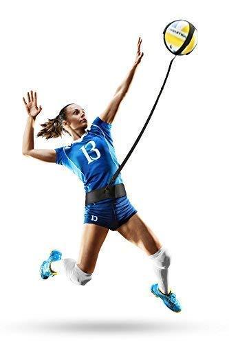 Infiiniity Volleyball Trainingshilfe mit verstellbarem Taillengürtel und Kordellänge. Perfekter Volleyballtrainer für Ihre Fähigkeiten wie Servieren, Spiken, Armschaukel Passend für Volleyballgrößen