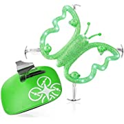 Mini Drone for Kids and Beginners - Monarch Flame Hand Motion Controlled Drone Quadcopter Flying Toys, LED Butterfly Drones for Girls or Boys (Green)