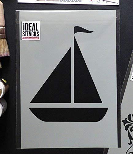 Segelboot Nautisch Kinderzimmer Schablone | Kinderzimmer Home Wand Dekorieren Kunst & Handwerk Schablone | Farbe Wände Stoffe & Möbel | 190 Mylar Wiederverwendbare Schablone