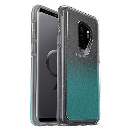 OtterBox Symmetry Series Case for Samsung Galaxy S9+ Plus (ONLY) - Bulk Packaging - Aloha Ombre (Silver Flake/Clear/Aloha Ombre)