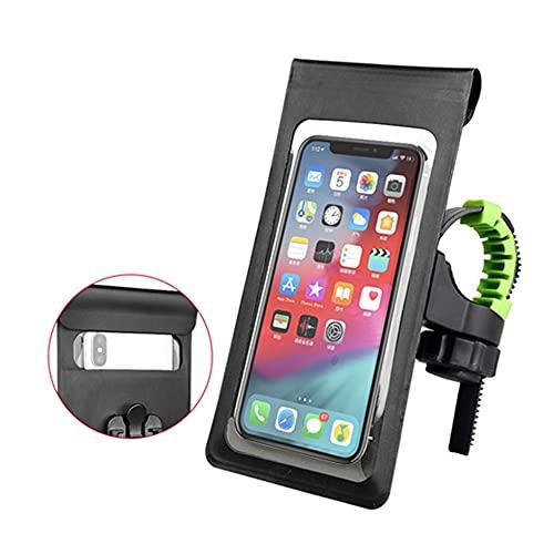CXYUAN - Bolsa impermeable para bicicleta con bolsillo frontal de 6 pulgadas, funda para teléfono móvil, marco de tubo superior para bicicleta, accesorios para ciclismo (color NB002)