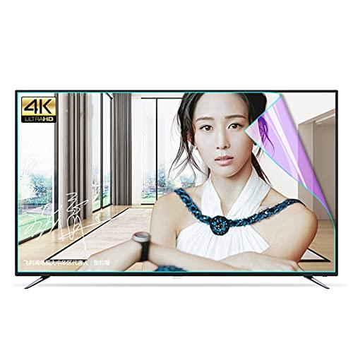 ALGWXQ 27-75 Pulgadas Protector Pantalla TV Adecuado para LCD, LED, 4K OLED Y QLED Y Pantalla Curva Anti-rasguños Prevenir La Miopía (Color : HD Version, Size : 55 Inch 1221x703mm)