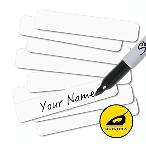 Writable Iron On Clothing Labels, Washer & Dryer Safe (Pack of 100)