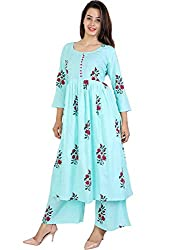Womens Cotton Kurti and Plazzo Pants Set