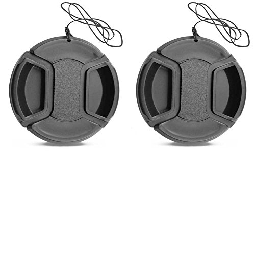 Lote de 2 tapas de objetivo central de 58 mm para Canon 1500D 1300D 200D EF-S 18-55mm EF 50mm f/1.4 lente / Nikkor lente de 55-300mm 50mm/1,4 G / Fujifilm X-A10 X-A3 XC16-50mm X-T20 X-T3 XF18-55mm