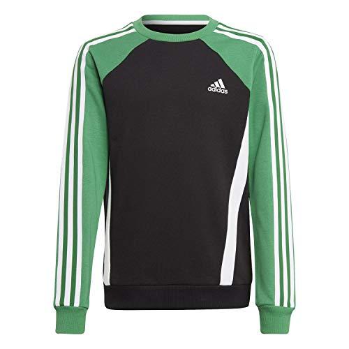 adidas B Bold Crew Sweatshirt für Kinder, Jungen, Sweatshirt, GM6976, Schwarz, Verese, Weiß, 14 años