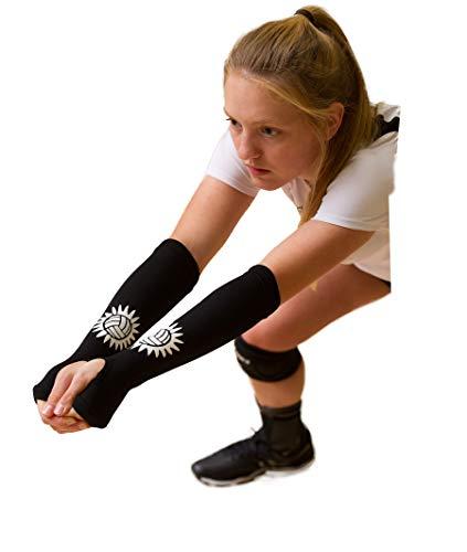 Tandem Sport Volleyball Passing Sleeve - Volleyball Training Tool Black, Small/Medium