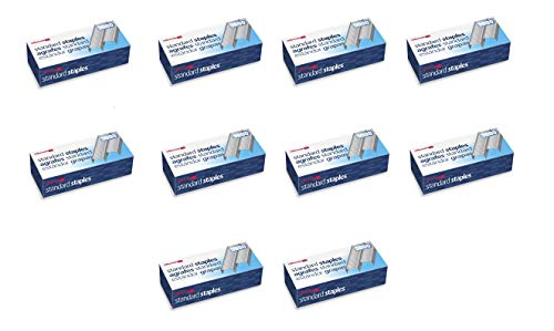 Officemate Standard Staples, 210 per strip, 20 Sheets Capacity, 5,000 per Box, Sold as 10 Pack (91900)