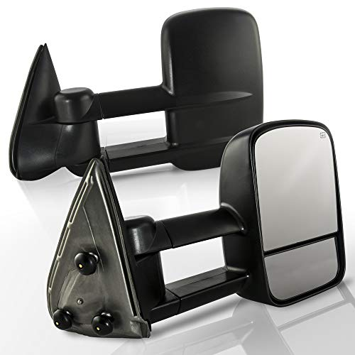 Make Auto Parts Manufacturing Driver and Passenger Side Power Heated Tow Side Mirrors Replacement For Chevy Silverado Avalanche Suburban GMC Sierra Yukon Cadillac Pickup Truck SUV 1999-2002 - GM132041