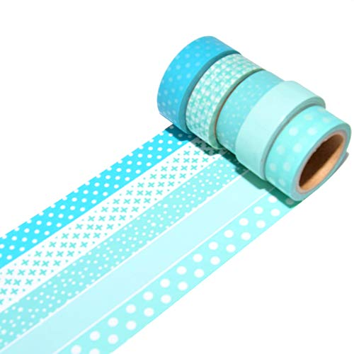 K-LIMIT 3 rotoli di nastro adesivo Washi Tape, 15 mm x 10 m
