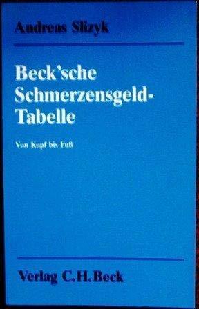 Beck'sche Schmerzensgeld-Tabelle. Von Kopf bis Fuss. Über 1550 Schmerzensgeld-Entscheidungen mit einer ausführlichen Einleitung