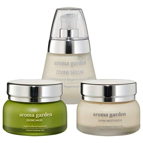 Divine Care Set - Organic & Vegan - Masque, sérum et crème de jour pour peau normale à grasse 150ml