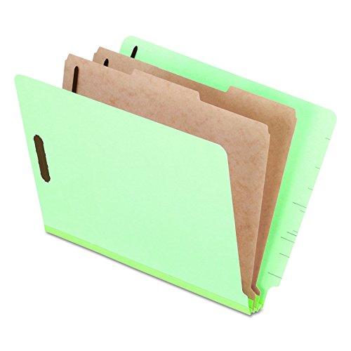 Pendaflex Pressboard End-Tab Classification Folders, Letter Size, 2 Dividers, 2.5