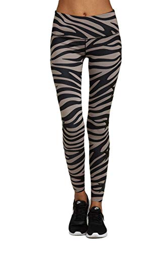 Noli Yoga Women Activewear Performance Leggings (Ace Tiger, X-Small)