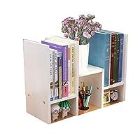 デスクトップ本棚、単純な組み合わせのオフィス収納ラック本棚インストール便利な複数のストレージスペースのホームオフィス(45x17x35cm),E