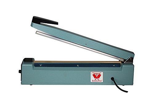 Beeketal \'BP400FS\' Profi Impuls Tisch Schweißgerät (keine Aufwärmzeit) mit 400 mm Schweißlänge und 2 mm Schweißbreite, Folien Schweißzeit von 1-8 Sek, Balkenschweißgerät mit Gusseisen Gehäuse