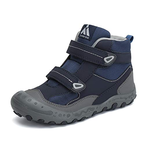 Mishansha Unisex-Kinder Wanderschuhe Jungen Wanderstiefel Mädchen Outdoor Trekking Schuhe rutschfeste Trekking- & Wanderhalbschuhe Blau C 33 EU
