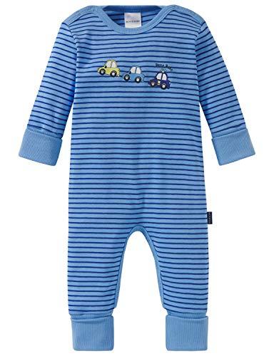 Schiesser Schiesser Baby-Jungen Polizei Anzug mit Vario Zweiteiliger Schlafanzug, Blau (blau 800), 56 (Herstellergröße: 056)