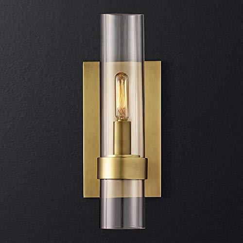 KAIBINY YY American Loft RH E14 llevó la lámpara del Oro/Negro/Cromo Pendiente de la lámpara de iluminación Foyer de Cristal Retro iluminación LED Sombras